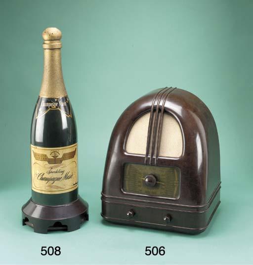 A Champagne Music radio receiv