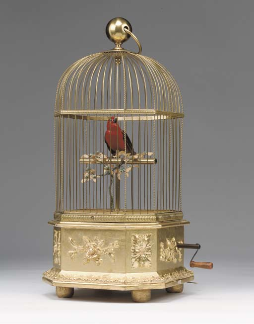 A Bontems singing bird automat