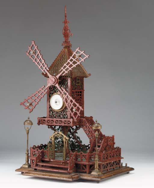 A musical automaton barometer