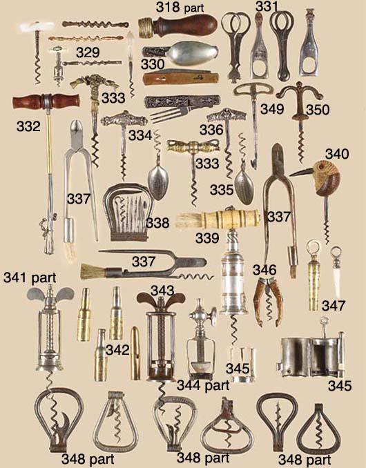 Nine bow corkscrews marked all