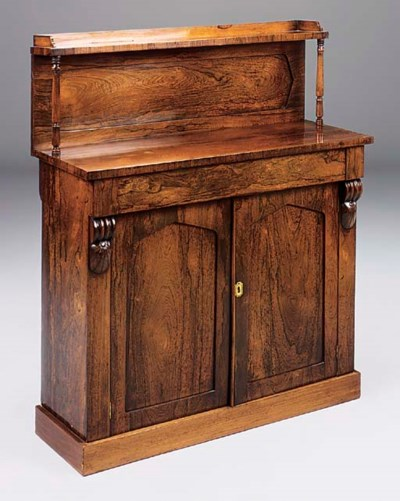A VICTORIAN ROSEWOOD CHIFFONIE