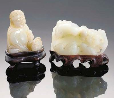 A celadon jade model of a seat