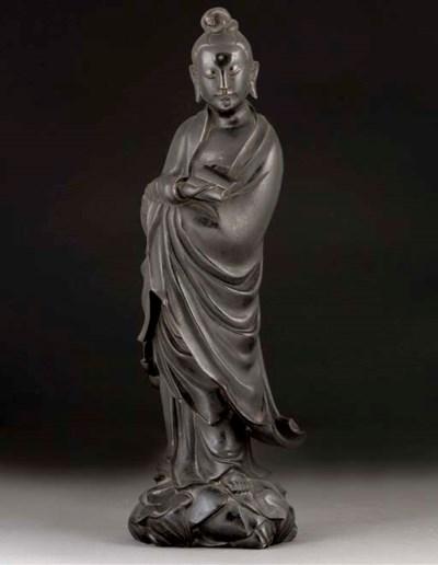A bronze model of Guanyin, 17t