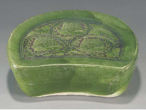 A Chinese green glazed pottery