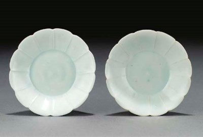 A pair of qingbai floriform sm