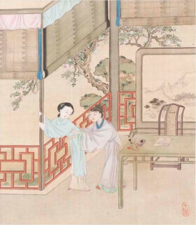 A Chinese erotic album, 19th c