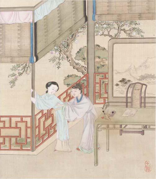 A Chinese erotic album, 19th century