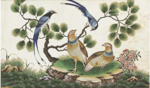 Three Chinese export paintings