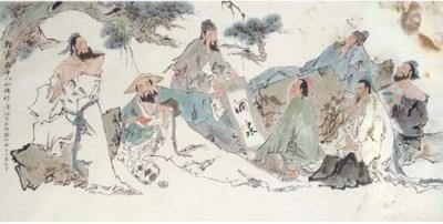 A large painting after Fan Zen