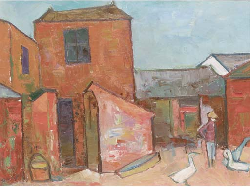 Shih De Jinn (Xi Dejin), (1923-1981), oil on canvas