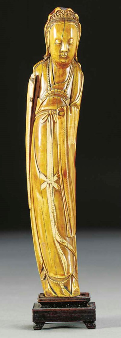 An ivory model of Guanyin, Min