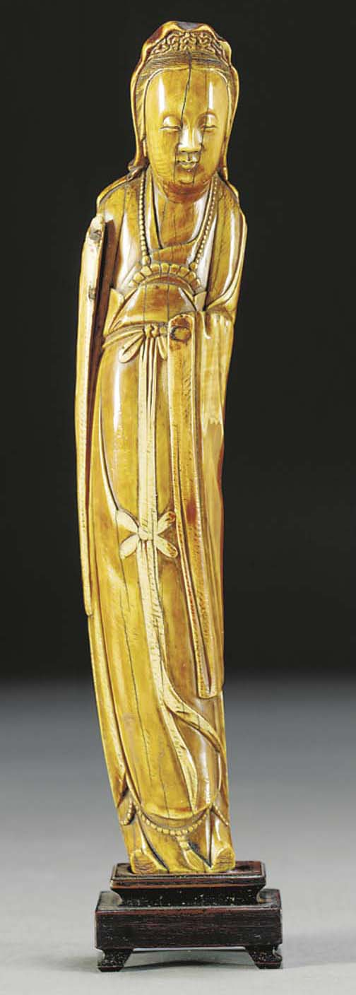 An ivory model of Guanyin, Ming dynasty