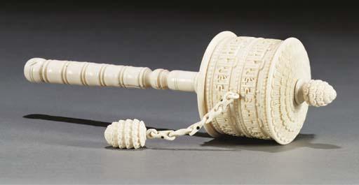 A Tibetan market ivory prayer