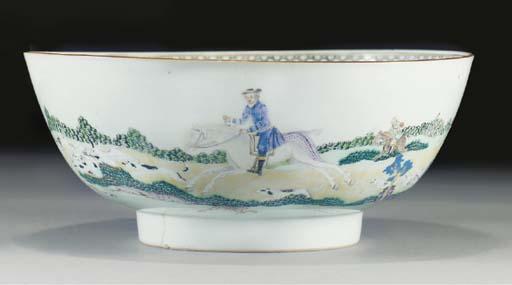An export punch bowl, Qianlong