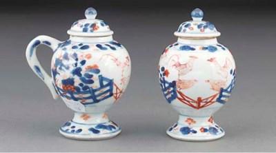 A pair of Chinese Imari chocol