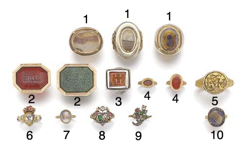 An 18th century mourning ring,