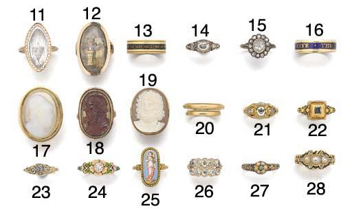 An 18th century rose-cut diamond ring,
