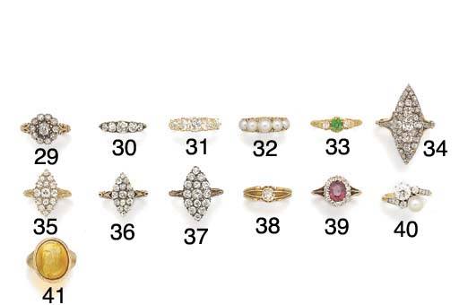 A 19th century diamond marquis