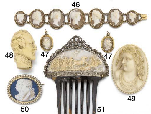 A 19th century cameo panel bra