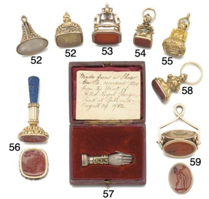 A 19th century silver and gem-