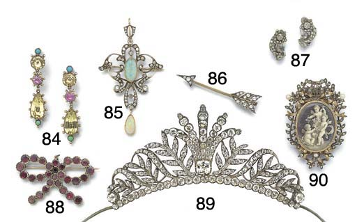 An antique paste tiara,