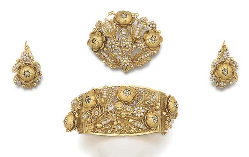A 19th century filigree gold a