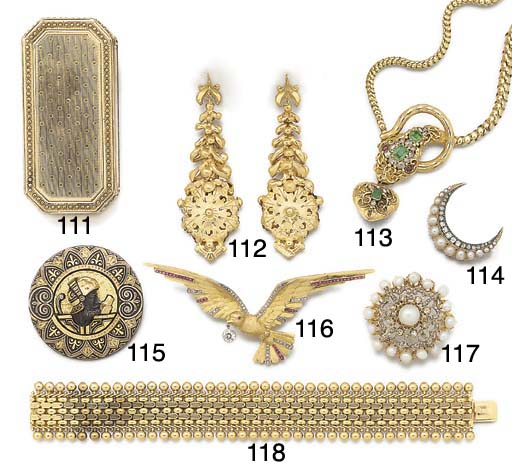 A 19th century iron, gold and