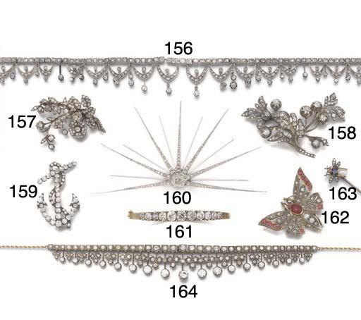 A 19th century gem set stick p