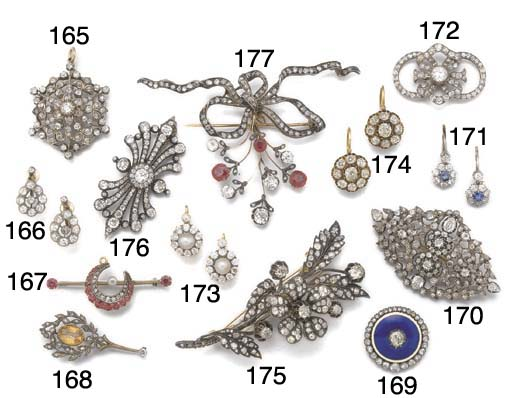 A 19th century diamond flowerhead entremblant brooch,
