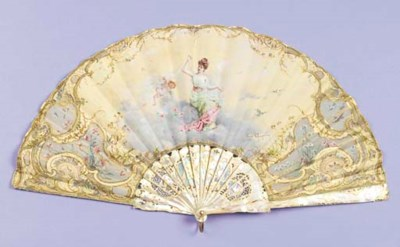 A fan signed Cecile Cheneviere