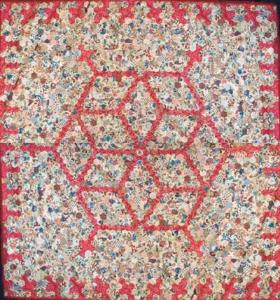 A patchwork coverlet, pieced w