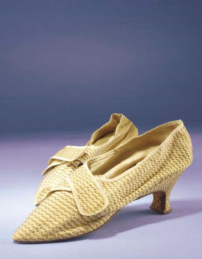 A pair of lady's shoes, of san