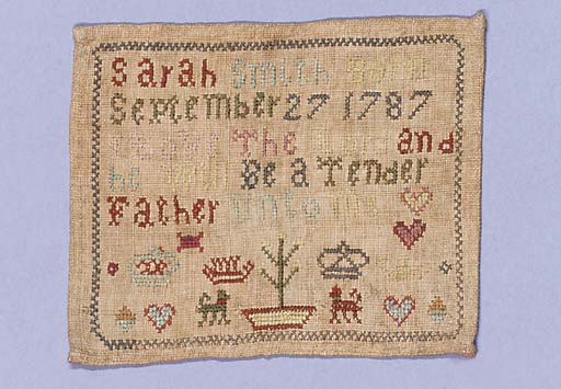 A miniature sampler, by Sarah