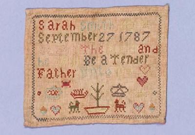 A miniature sampler, by Sarah