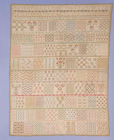 A large sampler, worked in col