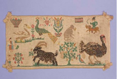 An unusual sampler, worked wit