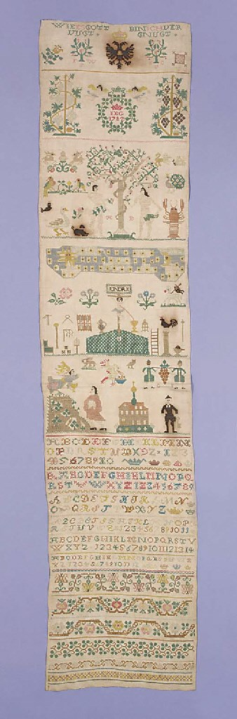 A sampler worked worked with t