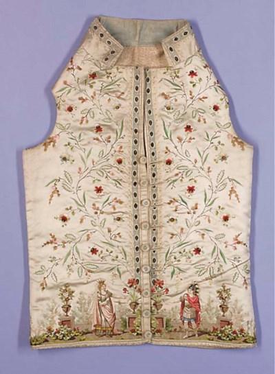 A very fine waistcoat, of ivor