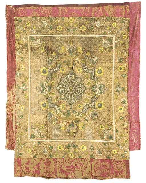A quilted appliqué coverlet, t