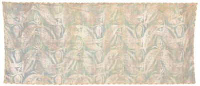 A panel of sea-green silk, pri