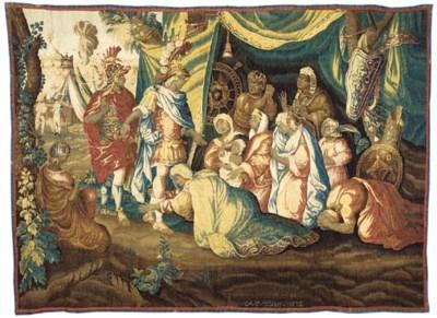 Alexander in the tent of Dariu