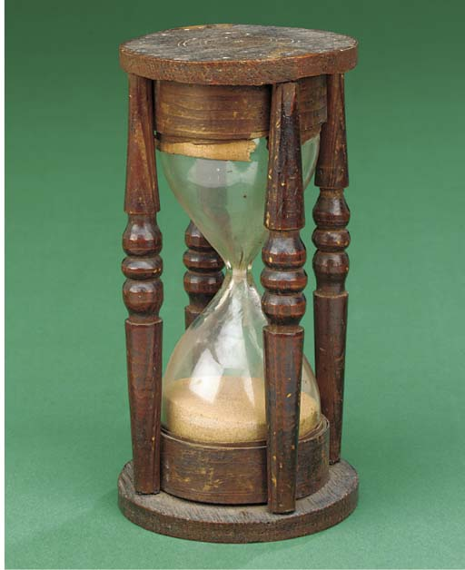 An 18th-Century two bulb sandg