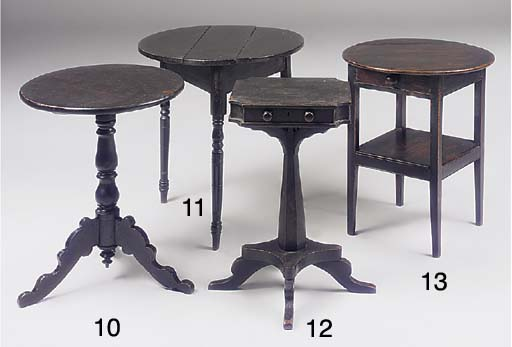 A CORNISH BLACK PAINTED PINE OCCASIONAL TABLE