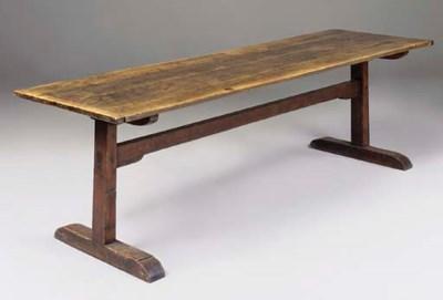 AN ENGLISH OAK REFECTORY TABLE