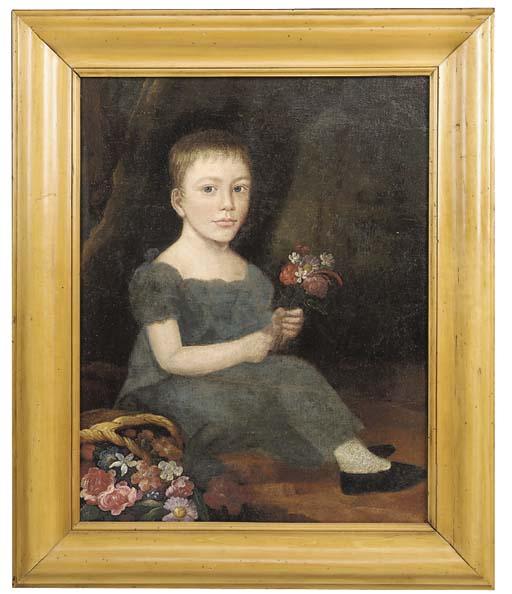 An English naive portrait