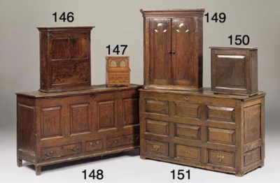AN ENGLISH OR WELSH OAK CHEST