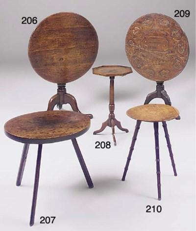 An English oak gypsy table