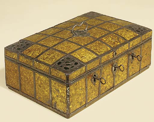 A Continental lacquered and steel strong box