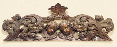 A Continental carved and pierc