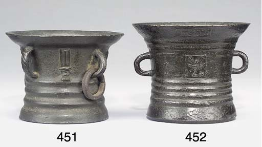 A early Charles I bronze morta